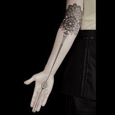 wicked geometric tattoo by Kenji Alucky @black_ink_power on Instagram