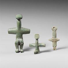 Picrolite figure Chalcolithic 3900 - 2500 BC Cyprus Period: ...