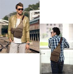 Kaukko Sling Bags Male Men Outdoor Gear Canvas Black Shoulder Bag New Fashion…