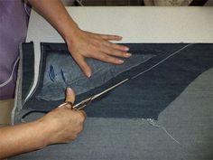 Aprenda a restaurar uma calça jeans rasgada seguindo o passo a passo.