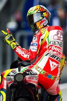Valentino Rossi on Ducati
