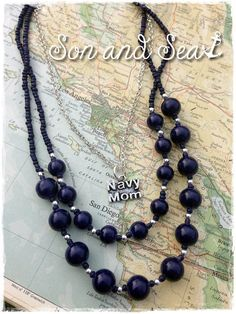 US Navy MOM beaded necklace by Son and Sea free US shipping