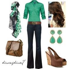 Husband loves this color green on me! He says it flatters me quite well. I shoudl get more. Cute and casual