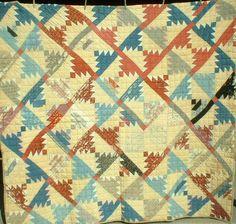 ANTIQUE VINTAGE EARLY 1900 PRAIRIE PRIMITIVE CARTWHEEL SAWTOOTH PINEAPPLE QUILT   eBay