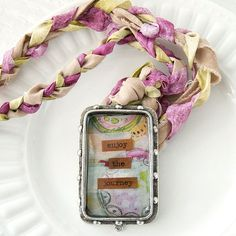 Remind yourself that life is a journey with this inspirational bezel and braided ribbon necklace. Click the pic for the free DIY tutorial!