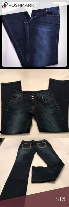 Maurices Denim Jeans Like new  Dark wash Bootcut Double button and zipper closure  5/6 reg   Good condition  Smoke free home Maurices Jeans Boot Cut