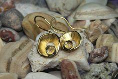 sterling silver hook earrings, goldplated available, fine greek art, resort jewelry by FavelaJewelry on Etsy