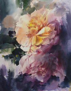 "Photo from album ""Adisorn Pornsirikarn. Акварель"" on Yandex. Watercolor Background, Watercolor Flowers, Watercolor Paintings, Watercolors, Art Floral, Pearl Wallpaper, Watercolor Landscape, Art Plastique, Beautiful Paintings"