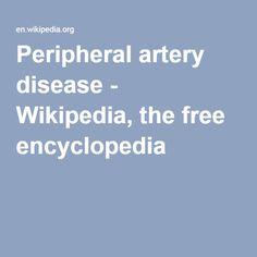 Peripheral artery disease - Wikipedia, the free encyclopedia