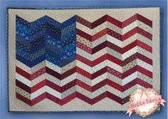 Forever May She Wave, Too: Create a patriotic wall hanging to show your American spirit. http://www.shabbyfabrics.com/For-Ever-May-She-Wave-Too-Kit-P18918.aspx