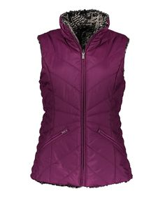 Loving this Weatherproof Violet Faux Fur Reversible Vest on #zulily! #zulilyfinds