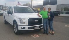"""Linda and Louis, wishing you many """"Miles of Smiles"""" in your 2017 FORD F-150!  All the best, Kunes Country Ford Lincoln of Delavan and DEANNA KLOSTERMAN."""