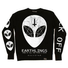 Earthlings Sweatshirt | KILLSTAR | ALIEN