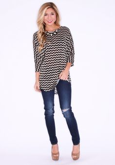SERENDIPITY STRIPE BLACK $ 32.00