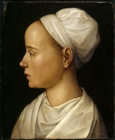 A Lady in a White Cap, German school, 16th century - oil on panel - 343 x 279 mm (13 1/2 x 11 in) - in the collection of Knightshayes Court, Devon