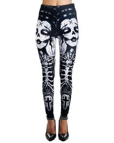 Release the Bats Lexy Leggings by Too Fast Clothing Punk Outfits, Gothic Outfits, Cool Outfits, Fashion Outfits, Gothic Pants, Gothic Leggings, Skeleton Leggings, Leggings Uk, Best Leggings