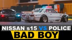 RC DRIFT CAR Nissan Silvia s15 VS Police CAR