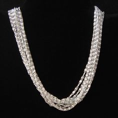 Sarah Coventry Silvery Cascade Choker Necklace Vintage 1960s