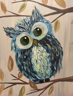 Find the perfect thing to do tonight by joining us for a Paint Nite in Bensalem, PA, featuring fresh paintings to be enjoyed over even fresher cocktails! Canvas Painting Tutorials, Easy Canvas Painting, Simple Acrylic Paintings, Acrylic Art, Painting & Drawing, Canvas Art, Owl Canvas, Art Abstrait, Owl Art