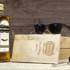 Shwood sunglasses and bushmills whiskey collaborated on a pair of wayfarers made from 100 year old white oak whiskey barrels. Need I say more. Two great things coming together and fucking I don't think a better love child could be made