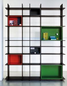 New Art Deco Shelving and Bookcase Design. What a great idea.