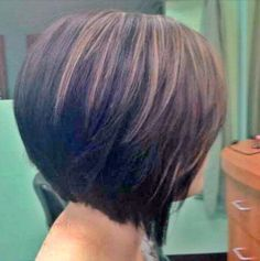 But if you feel you need a new look, the angled bob hairstyle is a great look for women over 40..