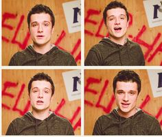 the day where josh hutcherson care about his looks ahaha i guess this is his teen year when during that age for boys they care about how they look most especially about their hair ahaha oh josh i wish u retain your care for your hair look as you grow up..