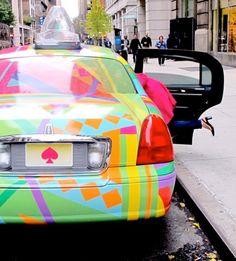 Custom-made Kate Spade taxi cab. LOL