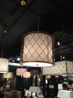 High Point Spring 2012-Quatrefoil Pendant from Regina Andrews.  Want this for the master bedroom