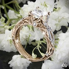 Verragio Vintage Engagement Ring. Um... with a cushion or round cut diamond please??