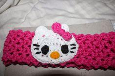 FREE PATTERN. Hello Kitty stretchy headband!