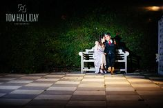 country house wedding photography – country garden wedding photography - tom halliday photography - uk wedding photography - landscape photography - night time photography