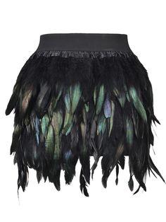 Feather Mini Skirt #unique