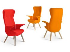 82 high back retro armchairs. www.spaceist.co.uk
