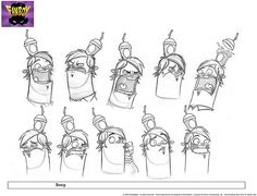 Boog Expressions by Fred Seibert, Character Design Cartoon, Character Design Animation, Character Design References, Character Design Inspiration, Character Modeling, 3d Character, Character Concept, Concept Art, Expression Sheet