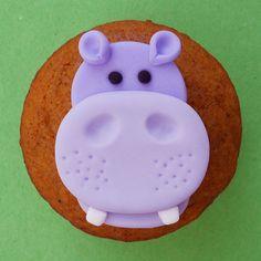 12 ANIMALES DE LA SELVA. Toppers de Cupcake por SWEETandEDIBLE