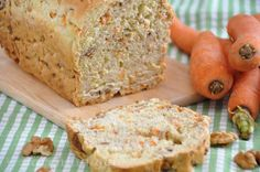 Dinkel Walnuss Karotten Brot Carrot Recipes, Bread Recipes, German Bread, Vegetarian Recipes, Healthy Recipes, What To Cook, Yummy Cakes, Soul Food, A Food