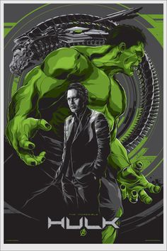 """""""The Hulk"""" Avengers poster by Ken Taylor"""