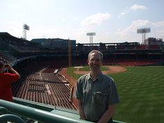 There I am again...hanging out at Fenway Park on an off day.  Now my favorite ballpark in the majors.