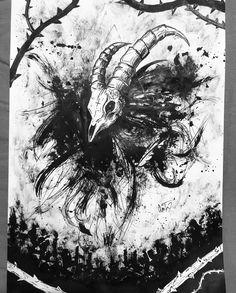 #darkart #ink #art #artwork #doodles #blackandwhite Ink Art, Moose Art, Doodles, Artwork, Animals, Work Of Art, Animales, Auguste Rodin Artwork, Animaux