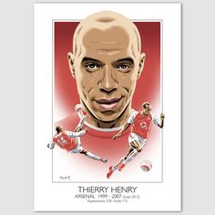 Thierry Henry (Arsenal) montage https://www.etsy.com/uk/listing/174507630/thierry-henry-arsenal-portrait-giclee?ref=shop_home_active_8