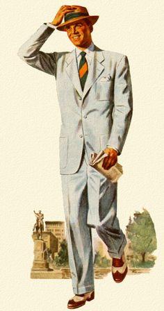 Warm weather suit - 1949