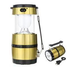 IPRee™ Portable Camping Tent Solar Lantern Collapsible Handheld LED Night Light Lamp Flashlight