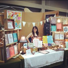 At Renegade Craft Fair Austin working my booth :) by ello lovey, via Flickr  #display #ideas #craft #shows #market #craft #stall #markets #handmade
