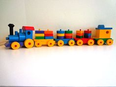 Items similar to Wooden Toy Shapes Train - Heirloom Quality - Hand Crafted - Hand Painted - Educational Toy - Puzzle Toy - Eco Friendly Kids Toy on Etsy Wooden Toy Train, Wooden Truck, Wooden Toys, Educational Toys For Kids, Kids Toys, Wood Toys Plans, Woodworking Toys, Classic Toys, Diy And Crafts