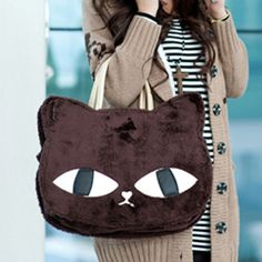 Stylish Women Girls Cute Cat Casual Shoulder Handbag Messenger Bag Purse Tote | eBay