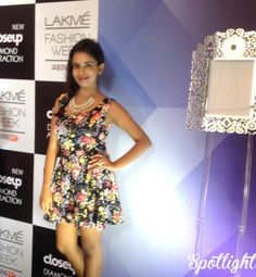 What I wore to Lakme! A fit & flare floral dress. MORE: http://spotlightxoxo.com/lakme-fashion-week-winterfestive-2014-story/