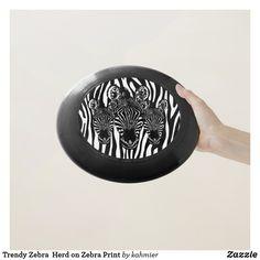Trendy Zebra  Herd on Zebra Print Wham-O Frisbee