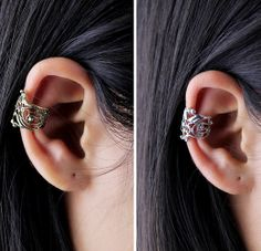 Elvish Ear Cuff Lord Of The Rings Ear Cuff Hand Crafted by Shillys, $5.00
