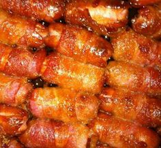 Bacon Wrapped Smokies with Brown Sugar and Butter - HowToInstructions.Us